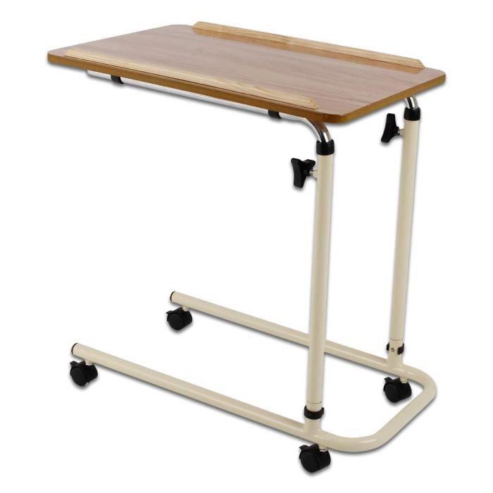 Aide à l'autonomie et à la mobilité Patterson Medical Table de lit jours à plat avec roulettes 55705