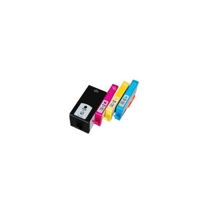 Pack 4 Cartouches d encre HP 920 XL compatible.