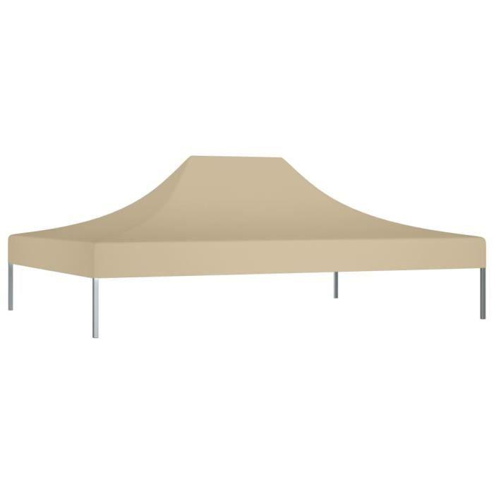 Bonne qualité - Toit de tente de réception - Toile de Tonnelle 4,5x3 m Beige 270 g-m² Pour Extérieur Terrasse Jardin Patio @8157 :