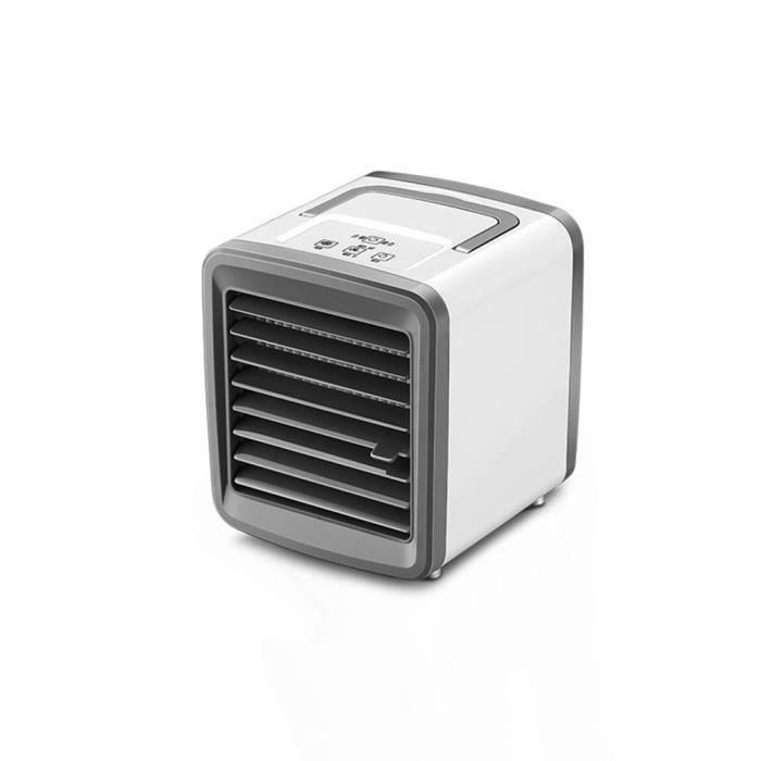 VENTILATEUR,Climatiseur refroidisseur d'air Mini ventilateur climatiseur Portable pour chambre maison refroidissement - White