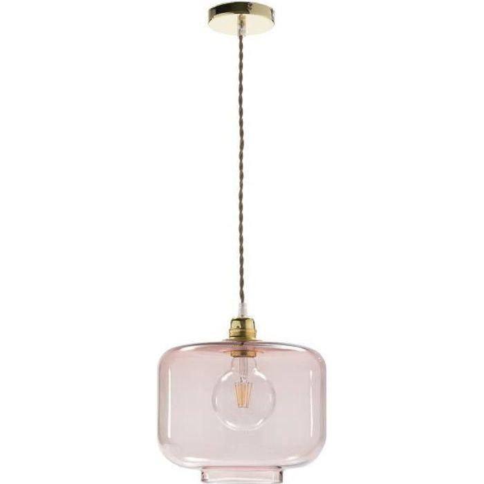 Luminaire Suspension en verre soufflé - Couleur Rose