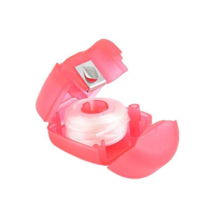 Fil dentaire,Porte clé en forme de dents, fil dentaire Portable de 15m, soins buccaux, santé, hygiène buccale, 1 pièce - Type WHITE