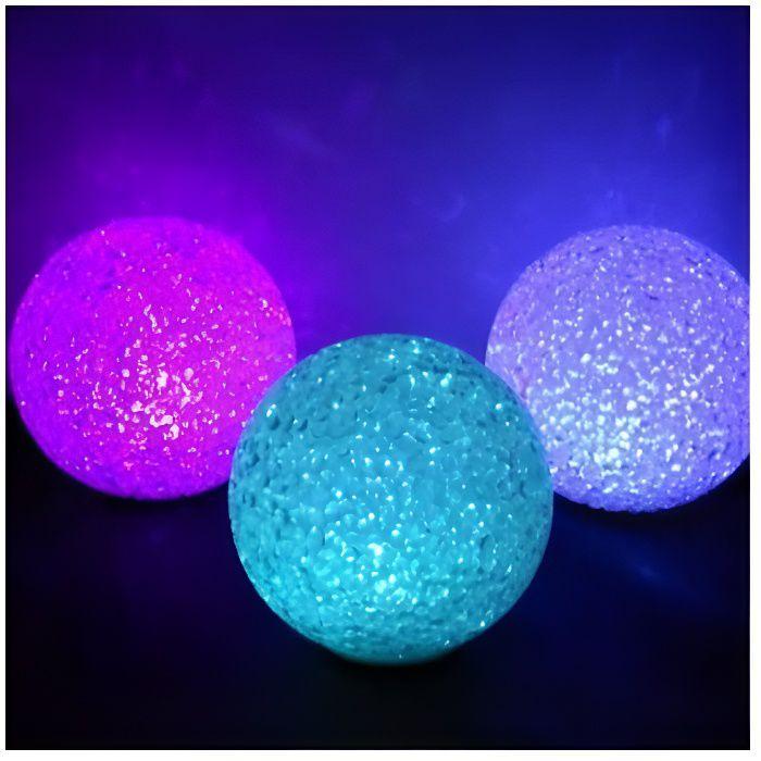 BOULE LED EFFET CRISTAL DIAM. 18 CM Multicolore / Multicolore