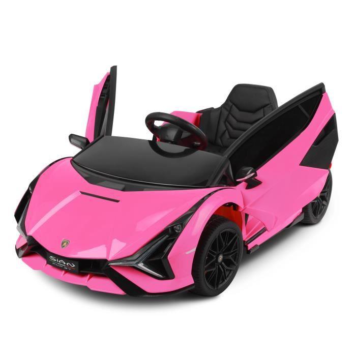 Lamborghini Voiture électrique pour enfants MP3 avec télécommande Voiture Rose 12V