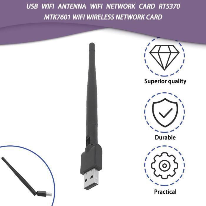 Antenne WiFi USB Carte réseau WiFi RT5370 MTK7601 Carte réseau sans fil WiFi