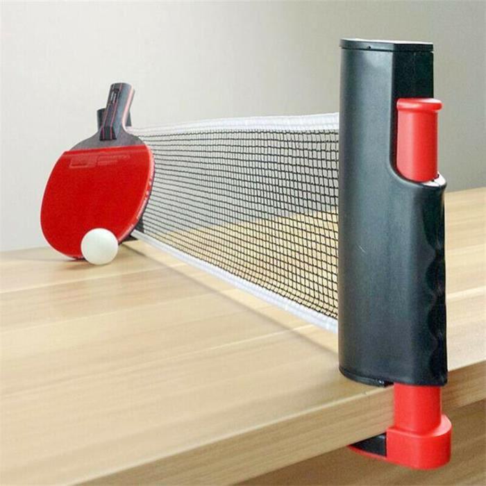 filet de ping-pong rétractable Filet pour tennis de table Portable Net téléscopique