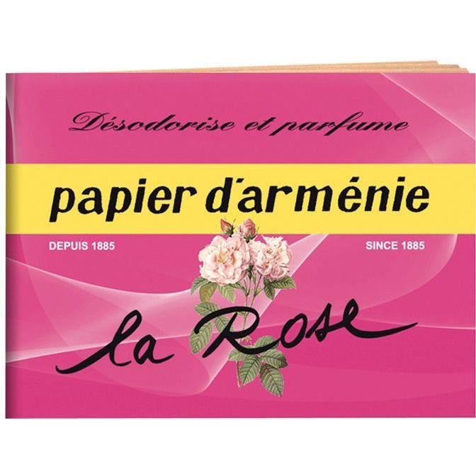 Carnet désodorisant - parfum rose