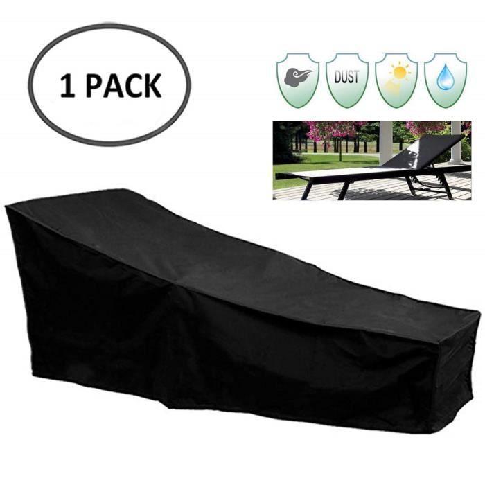 Housse pour Chaise Longue Exterieur, Housse de Protection Bain de il,Anti-UV-Anti Vent-Imperméables Tissu De 420D Ox208x79x41-79 cm