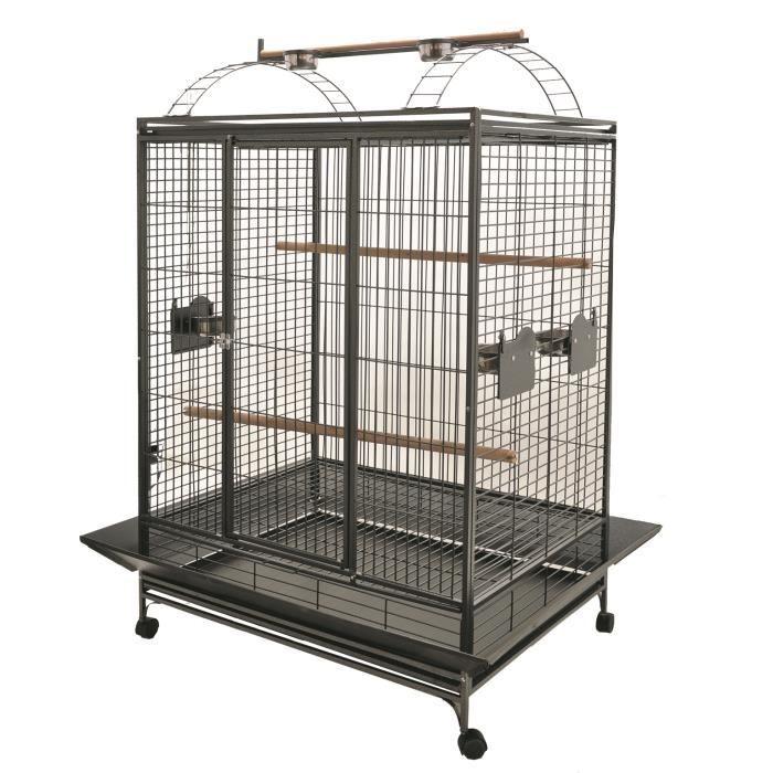 Cage'Evita'perroquet gris martel.101x76x183cmL 2bx