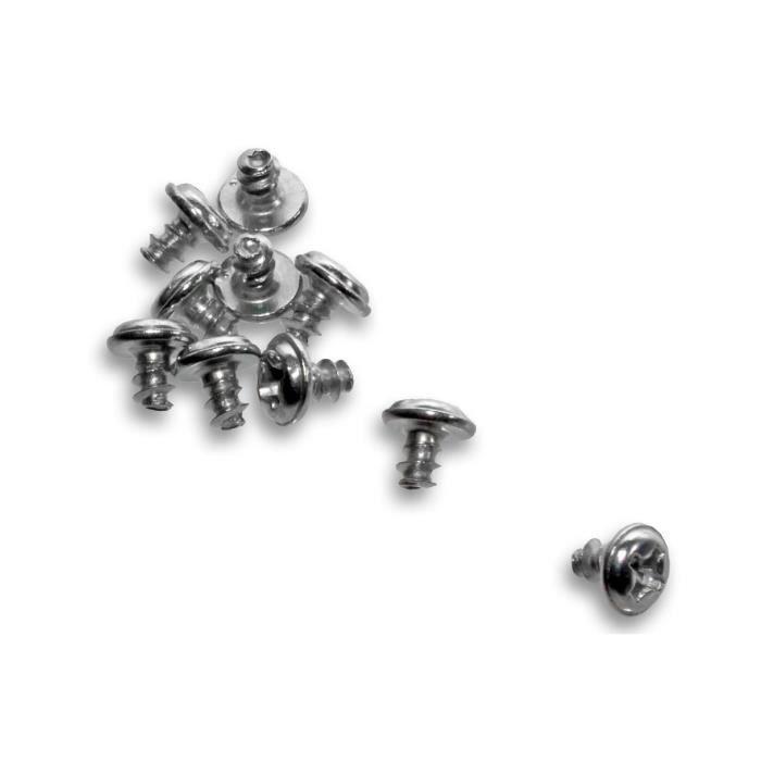vhbw Lot de 10 vis pour brosses de côté compatible avec iRobot Roomba 500, 510, 520, 530, 531, 532, 534, 535, 540, 550, 555, 560,