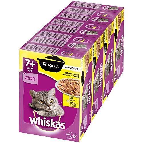 Whiskas Nourriture pour chats âgés de 7 ans et + - lot de 4 x 12 x 85g 5900951267529