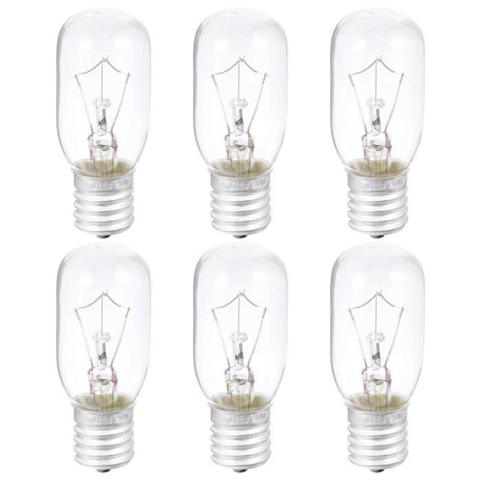 Ampoule à micro-ondes 6 pièces 40W E17 Base four à ampoule appareil