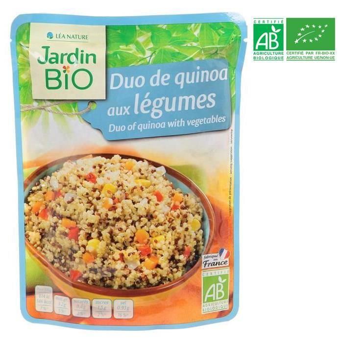 Duo de quinoa aux légumes bio 250 g franprix