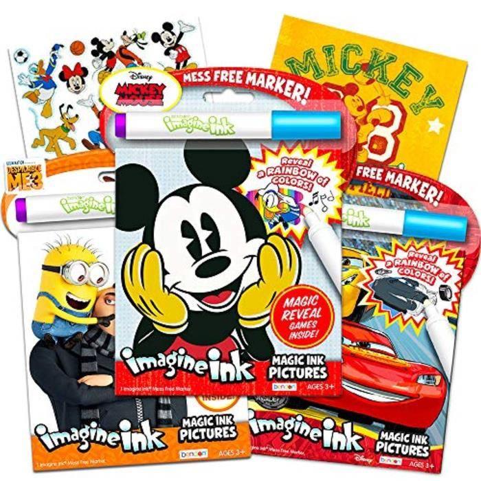 Jeu De Coloriage G9oku Ensemble De Livres A Colorier D Encre Magique Disney Mickey 3 Imaginez Des Livres A L Encre Pour Les Tout P Cdiscount Jeux Jouets