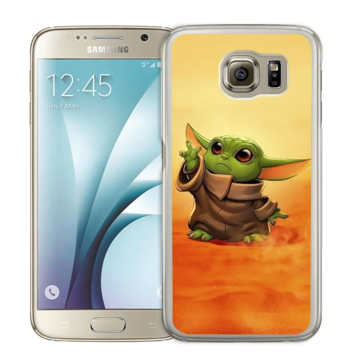 Coque Samsung Galaxy S6 EDGE - Star Wars baby Yoda Fanart