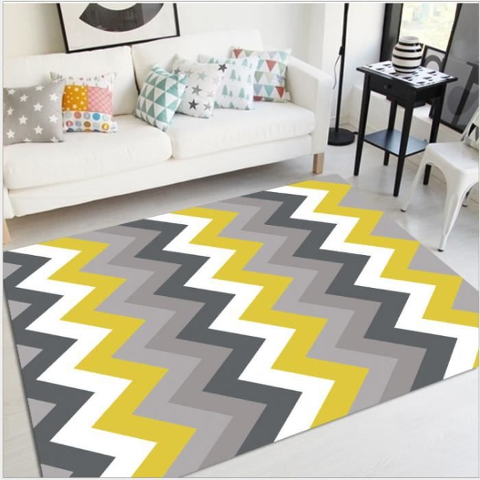tapis salon jaune gris ardoise. Black Bedroom Furniture Sets. Home Design Ideas
