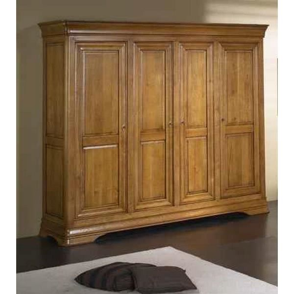armoire 4 portes merisier massif 39 jeanne 39 achat vente. Black Bedroom Furniture Sets. Home Design Ideas