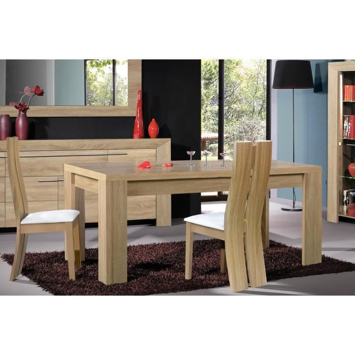 Table de salle manger lucy l 180 x p 95 x h 76 cm for Table salle a manger 70 cm