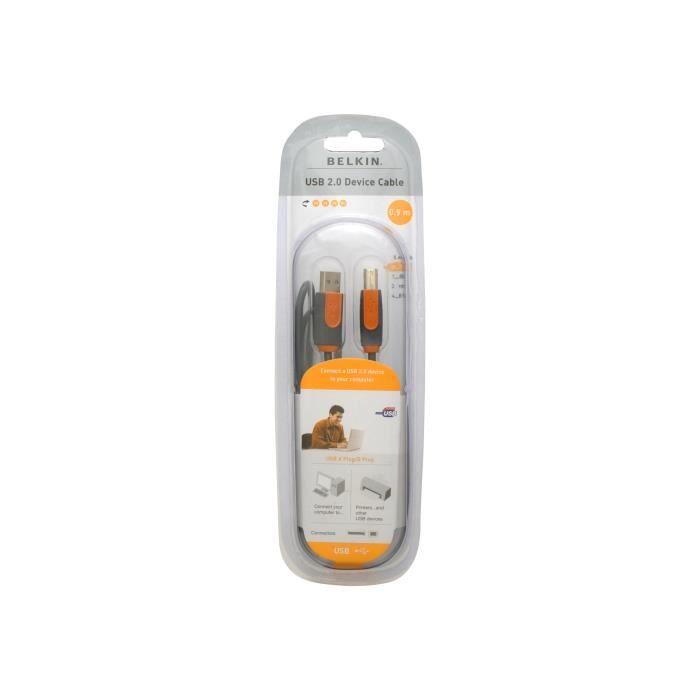 CÂBLE INFORMATIQUE Belkin PRO Series Hi-Speed USB 2.0 Device Cable Câ