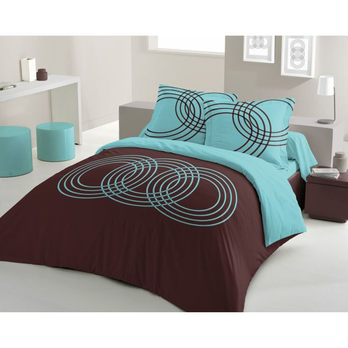 housse de couette turquoise et marron table de lit a roulettes. Black Bedroom Furniture Sets. Home Design Ideas