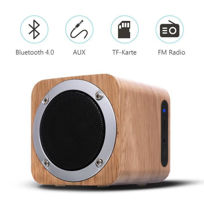 ENCEINTE NOMADE Enceinte Bluetooth Boisée 6W Portables Bluetooth 4