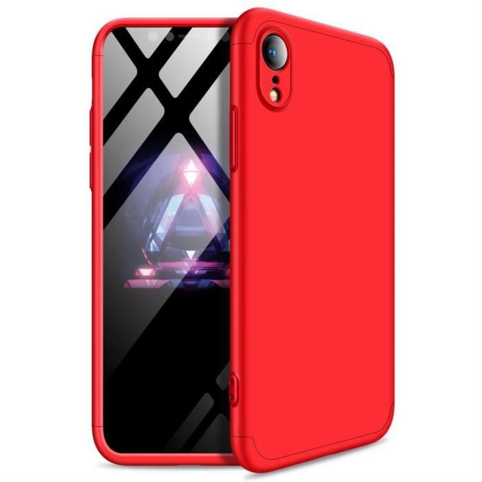 iphone xr coque ultra slim 3 en 1 rigide pc cover