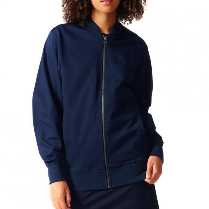 veste adidas bleu marine femme