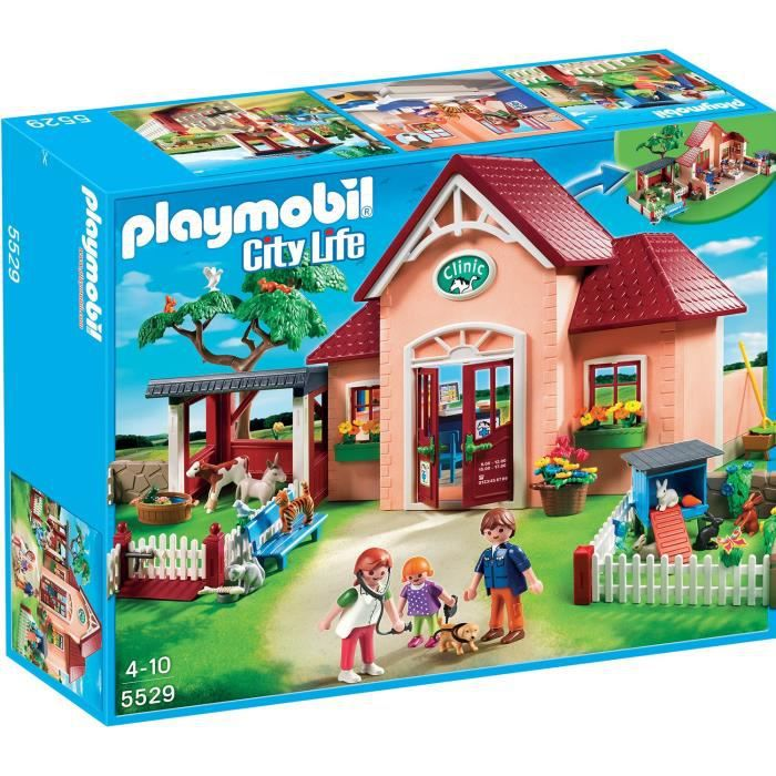 Playmobil 5529 clinique v t rinaire et animaux achat for Salle a manger playmobil city life