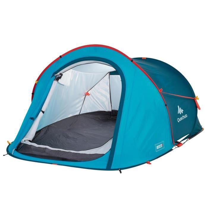 Tente De Camping 2 Seconds Bleue 2 Personnes Quechua By Decathlon Prix Pas Cher Cdiscount