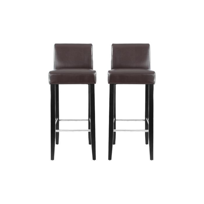 lot de 2 tabourets de bar chocolat bell achat vente tabouret de bar marron cdiscount. Black Bedroom Furniture Sets. Home Design Ideas