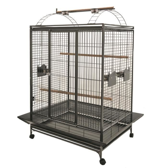 cage 39 evita 39 perroquet gris 2bx achat vente cage oiseaux cage cdiscount. Black Bedroom Furniture Sets. Home Design Ideas