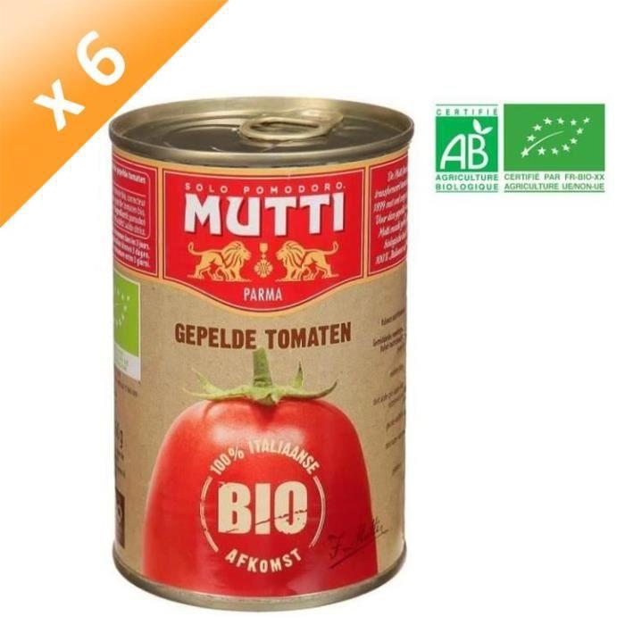 [LOT DE 6] Tomates Pelées Mutti Bio - 400 g