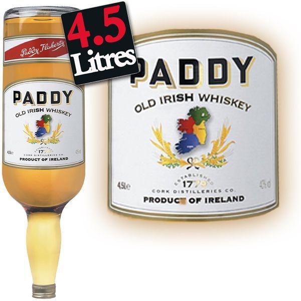 WHISKY BOURBON SCOTCH Paddy Irish Whiskey (4.5L)