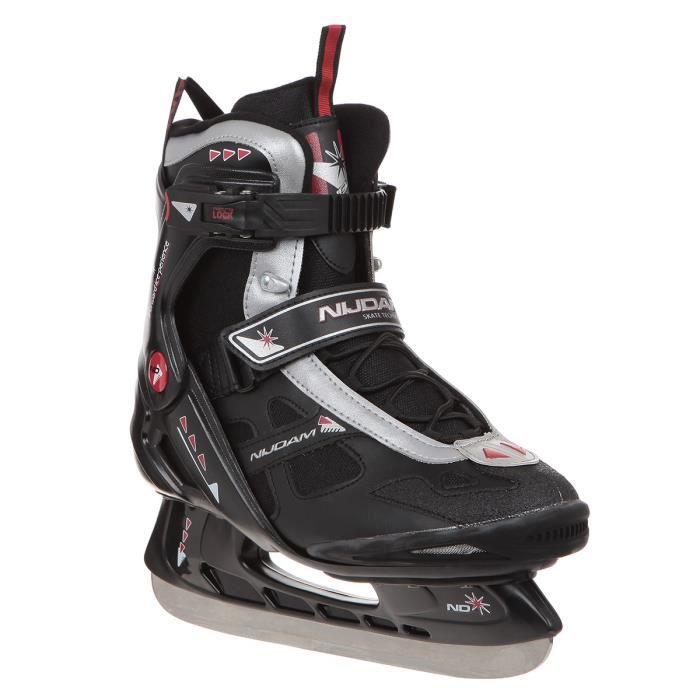 PATIN À GLACE NIJDAM Patins de hockey sur glace - Adulte - Noir