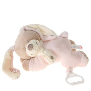 PELUCHE NICOTOY Peluche Musicale Cuddles Lapin Rose