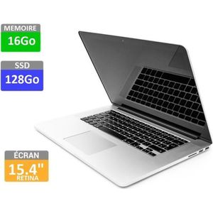 "PC Portable Apple MacBook Pro 15 Rétina- Mi 2014 -Model A1398 - Intel Core i7 2.8Ghz - RAM 16Go - SSD 128Go - 15.4"" 2880x1800 – Intel Iris Pro pas cher"