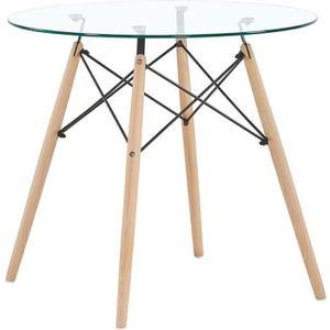 CHAISE HJ Table à manger ronde de 2 à 4 personnes-Plateau