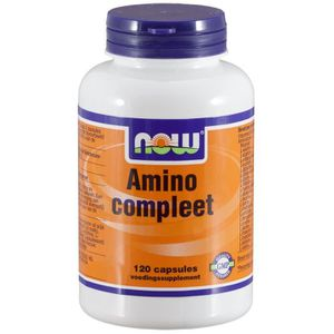 ACIDES AMINÉS Compleet amino (120 capsules). Now Foods.