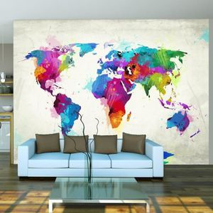 poster xxl carte du monde achat vente poster xxl carte. Black Bedroom Furniture Sets. Home Design Ideas