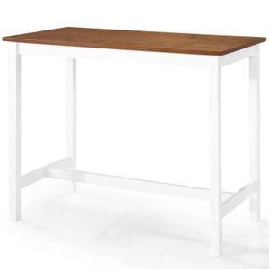 MANGE-DEBOUT Table haute mange debout bar bistrot bois massif 1