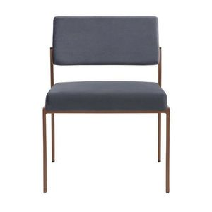 CHAISE Chaise vintage en velours gris Gris