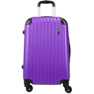 VALISE - BAGAGE Valise Taille Cabine 55cm 4 roues rigide violet -