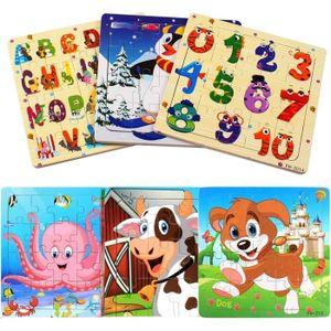 Puzzle Afufu MYSTÈRE chez les enfants en bois, chambre d'hôtes Montessori