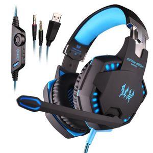 CASQUE AVEC MICROPHONE EACH G2100 professionnel 3.5mm LED PC Gaming Noise