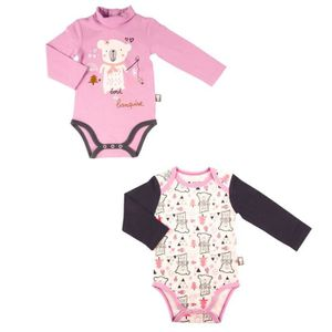 BODY Lot de 2 bodies bébé fille manches longues Lovebea