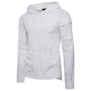 T-SHIRT Tee Shirt Homme Hip Hop Hooded T Shirt Manche Long