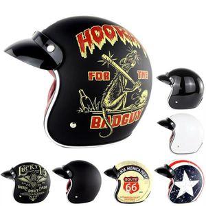 CASQUE MOTO SCOOTER S-XXL Harley Moto retro Helmet