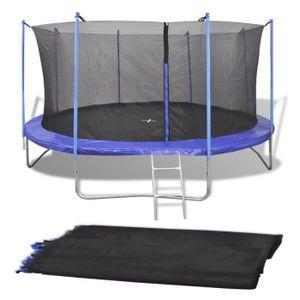 BARRIÈRE DE SÉCURITÉ  Filet de sécurité pour trampoline rond 4,57 m PE N