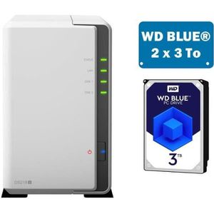 SERVEUR STOCKAGE - NAS  Synology DS218J WD BLUE 6To