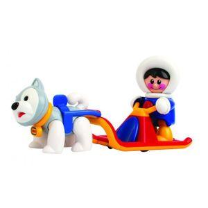 FIGURINE - PERSONNAGE Traineau chien musher jouet éveil Tolo enfants véh